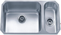 "18 Ga 80/20 Double Bowl Sink 32""X18""X8"""