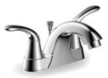 "4"" Two-Handle Lavatory Faucet Chrome Finish"